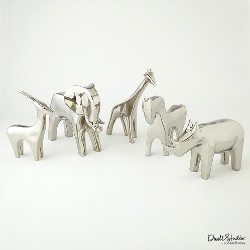 Silver Animals 銀色動物雕塑