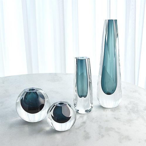 Cut Glass Vase - Azure (More Options)