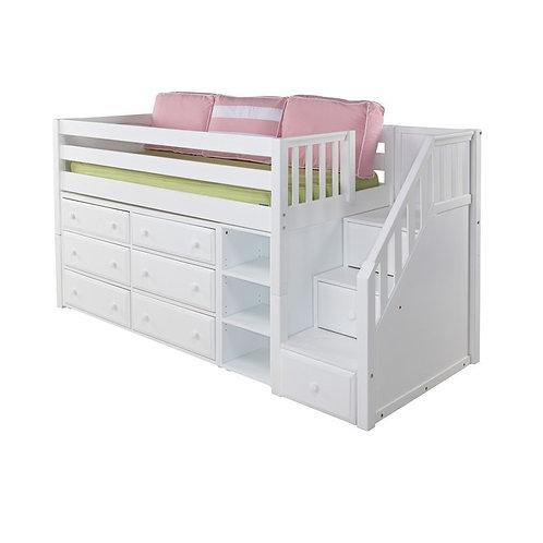 Maxtrix (低) 高架床 + 箱梯 + 衣櫃 + 書架 - TWIN (多款可選)