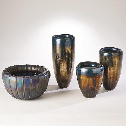Tear Drop Folded Vase - Deep Blue (多款可選)