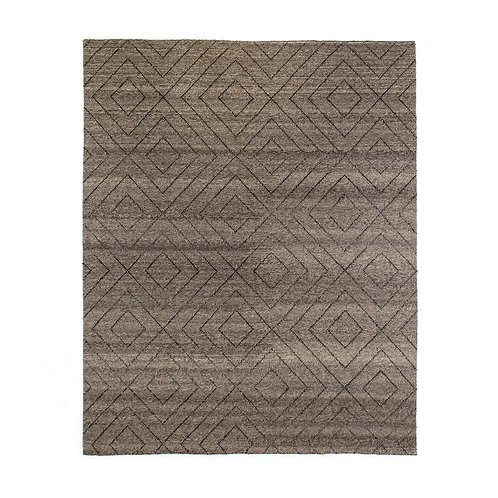 Natural Diamond Patterned Wool Rug (多款可選)