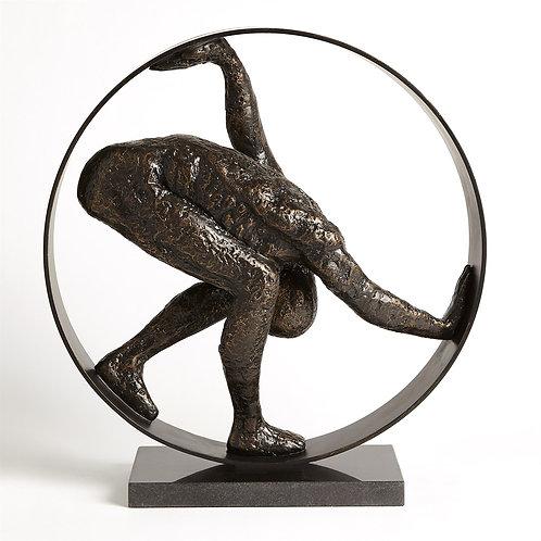 Man in Circle Sculpture