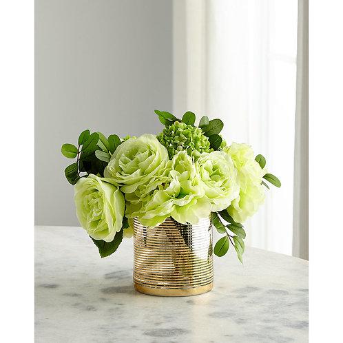 Mixed Green Faux Floral Arrangement