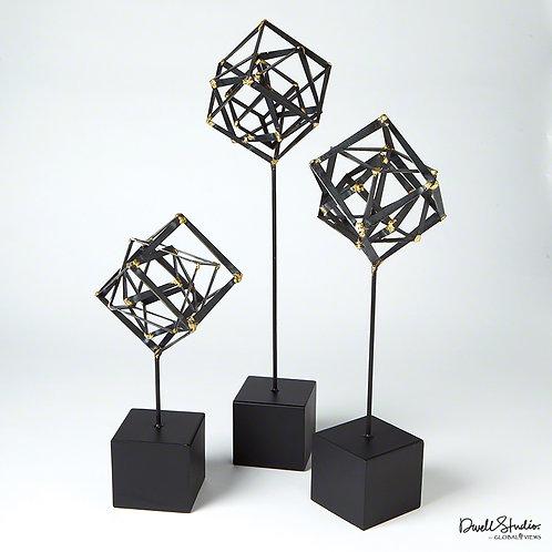 Tilted Cube Sculpture 傾斜立體方形雕塑