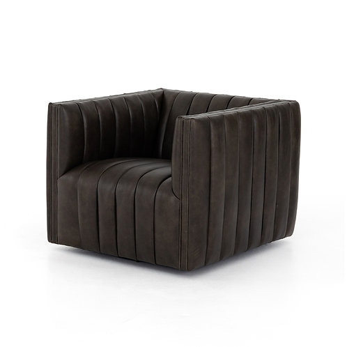 Augustine Leather Swivel Chair