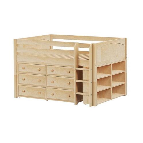 Maxtrix (低) 高架床 + 直梯 + 衣櫃 + 書架 - FULL (多款可選)