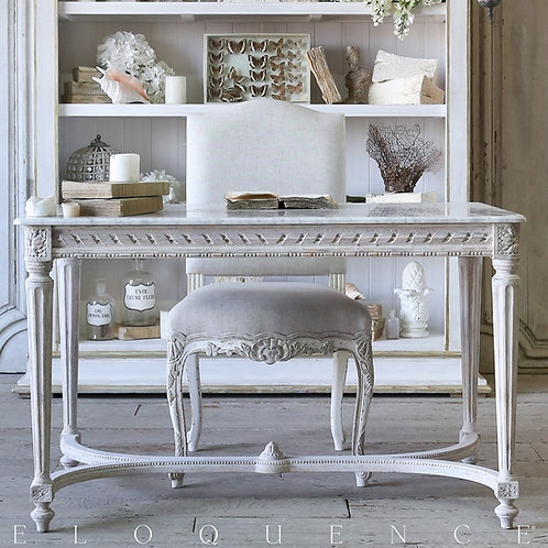 Contessa Entry Table in Chipped White