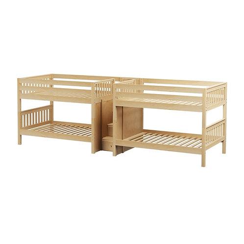 Maxtrix (低) 雙排雙層床 + 箱梯 - FULL (多款可選)
