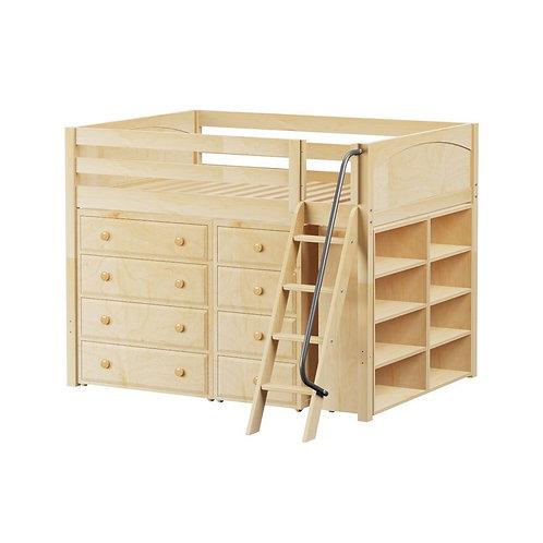 Maxtrix (中) 高架床 + 扶梯 + 衣櫃 + 書架 - FULL (多款可選)