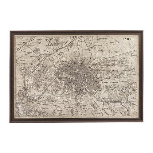 Paris Vintage Map