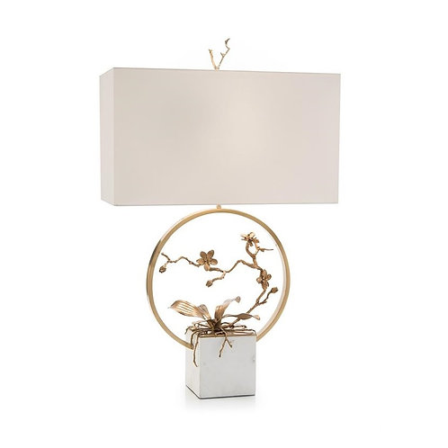 Antique Brass Orchid Table Lamp