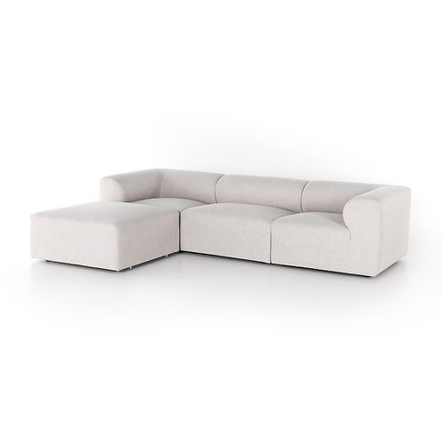 Collins 3-Piece Sectional w/ Ottoman