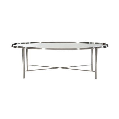 Allure Metal Oval Cocktail Table