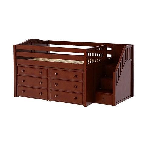 Maxtrix (低) 高架床 + 箱梯 + 衣櫃 - FULL (多款可選)