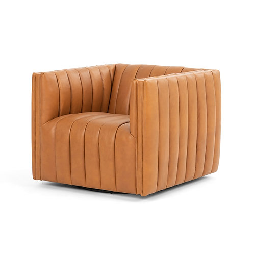 Augustine Leather Swivel Chair 2