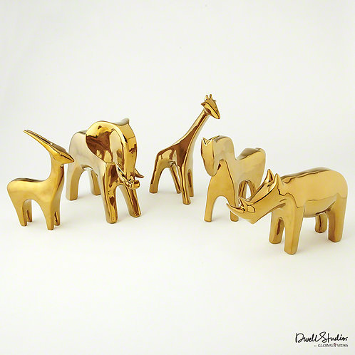 Golden Animals 金色動物雕塑