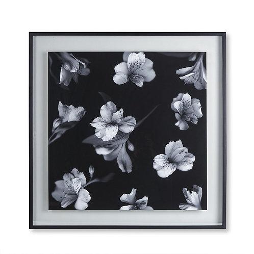 Black & White Flowers - Glass Float (Kelly Hoppen Collection)