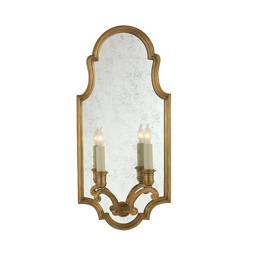 Sussex Medium Framed Double Sconce (E. F. Chapman Collection, More Options)