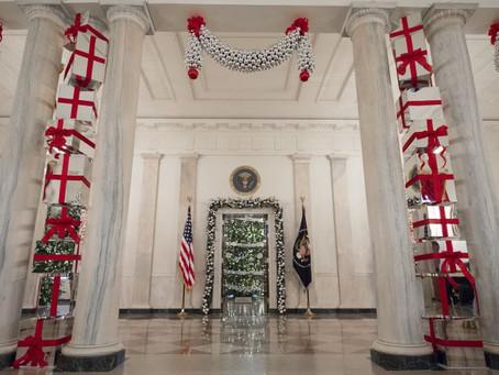 Obamas 任內最後一個在「白宮」聖誕節裝飾