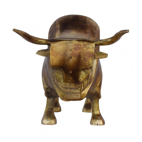 Golden Bull Sculpture