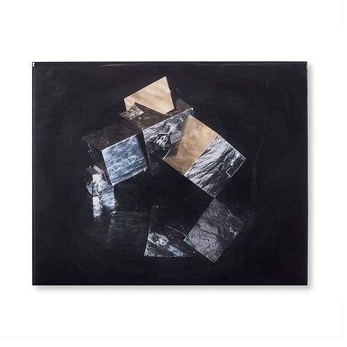 Pyrite Crystal B - Acrylic Dry Mount (Kelly Hoppen Collection)