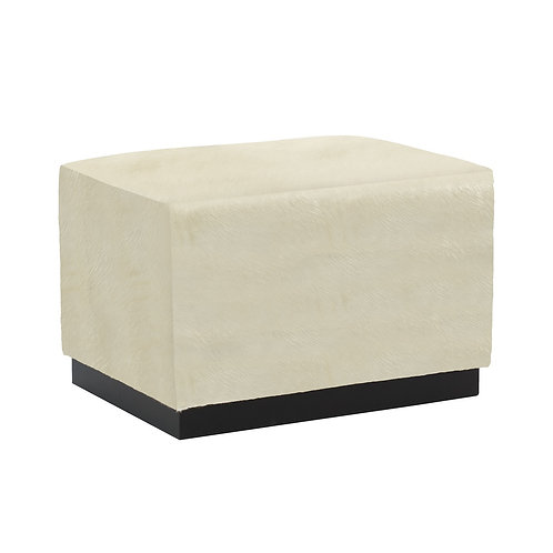 Merino Leather Cocktail Ottoman