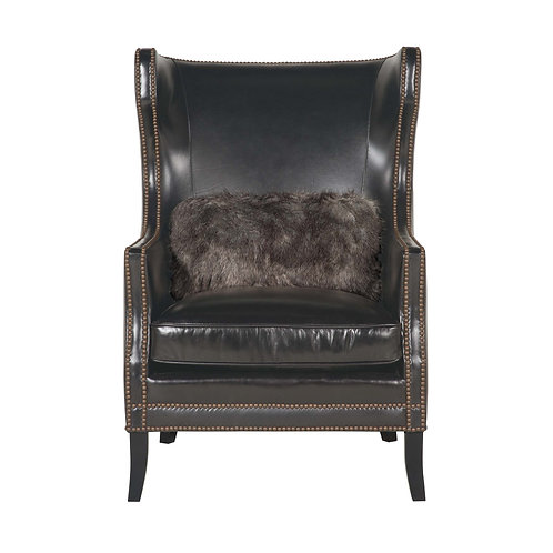 Kingston Leather Wing Chair