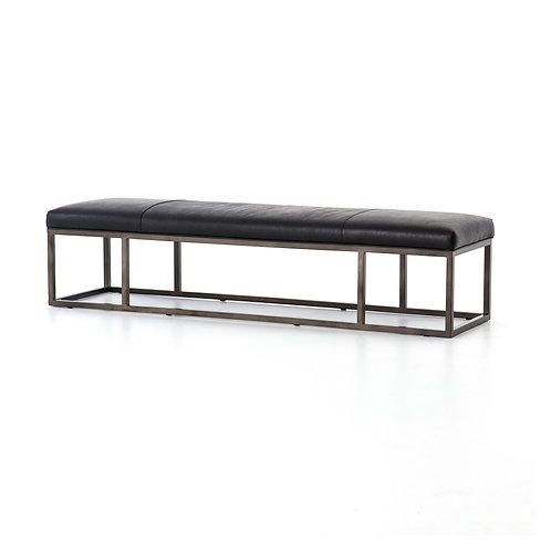 Beaumont Leather Bench 2