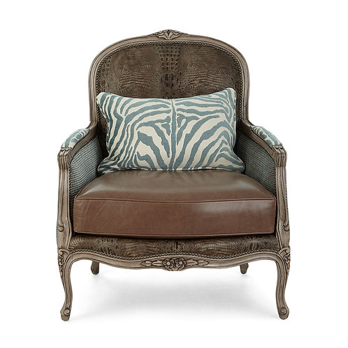 Campbell Leather Bergere Chair