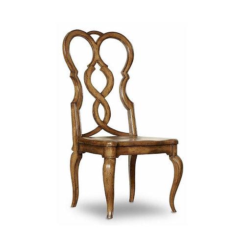 Auberose Splatback Wood Seat Side Chair (Set of 2)