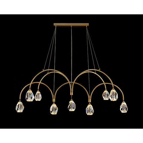 Faceted Cut Crystal Chandelier