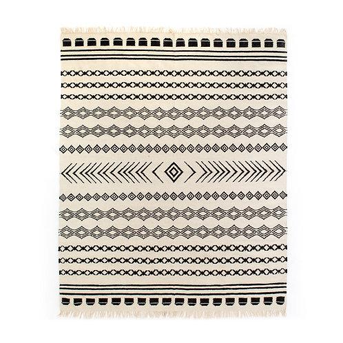 Black Patterned Stripe Rug (多款可選)