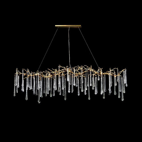 Glass Teardrop Horizontal Chandelier