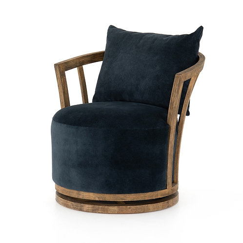 Hallie Leather Swivel Chair