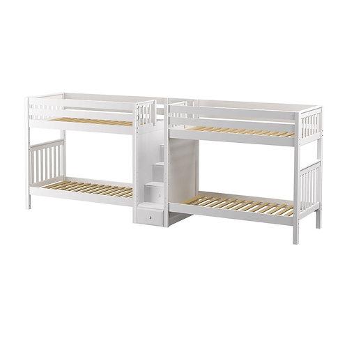 Maxtrix (高) 雙排雙層床 + 箱梯 - TWIN (多款可選)