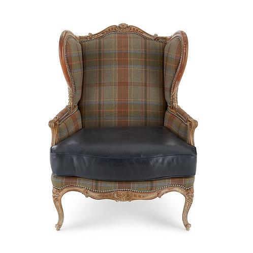 Sierra Leather Wing Chair