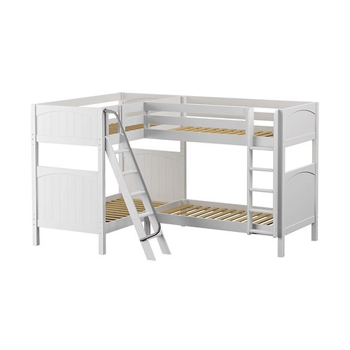 Maxtrix (高) 角落雙層床 + 斜/直梯 - TWIN (多款可選)