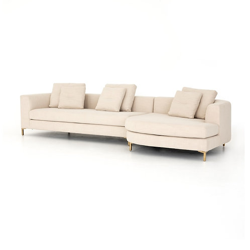 Greer Sectional w/ Rounded Chaise (More Options)