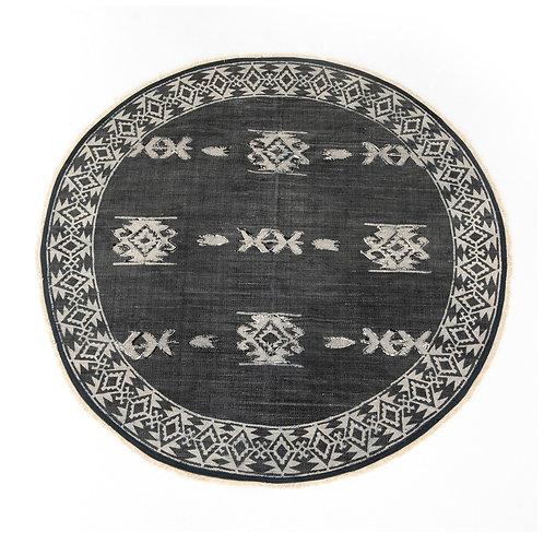 Tribal Faded Black Round Rug (多款可選)
