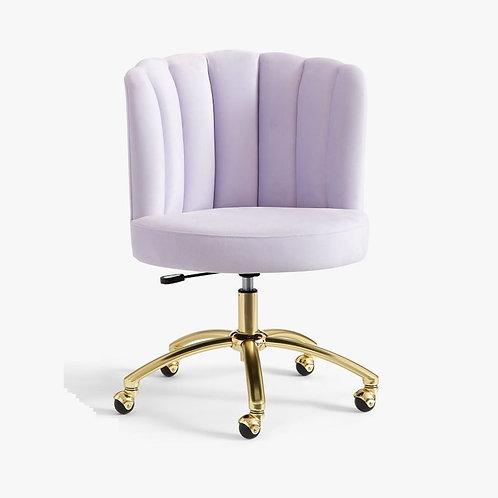 Lilac Channel Swivel Desk Chair