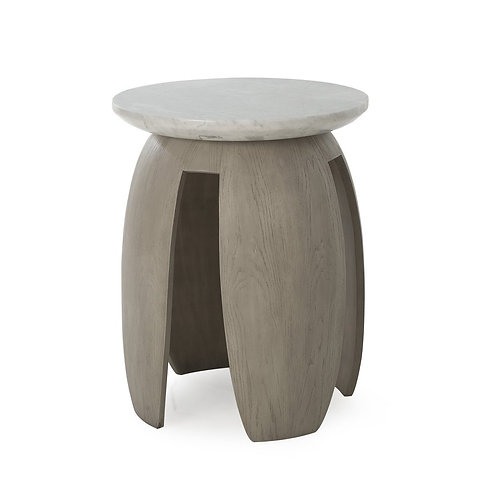 Gray Pedestal Table (Kelly Hoppen Collection)