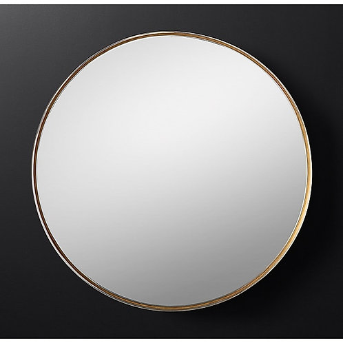 Varese Two-Toned Round Mirror