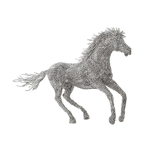 Horse Pipe Sculpture Galloping