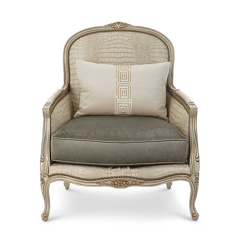 Garcelle Leather Bergere Chair