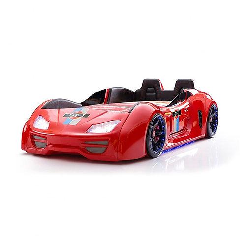 GT-1 渦輪酷炫賽車床-紅魔鬼 (含床墊)