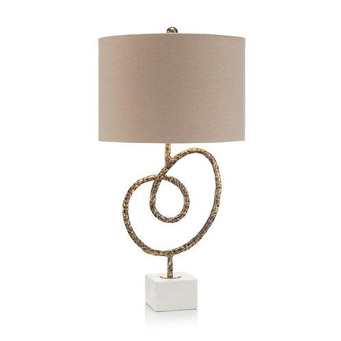 Antiqued Brass Knot Table Lamp