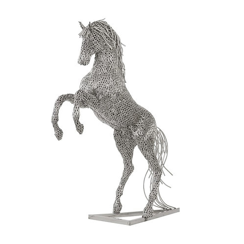 Horse Pipe Sculpture Rearing