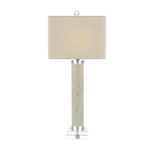 White Calcite and Quartz Lamp