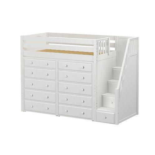 Maxtrix (高) 高架床 + 箱梯 + 衣櫃 (多款可選)