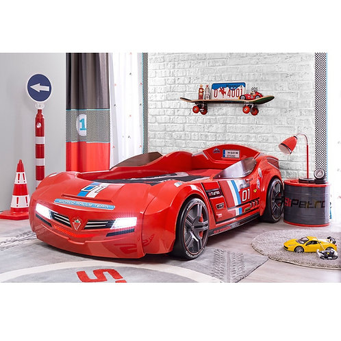 渦輪酷炫賽車床-紅色義大利 (含床墊)